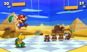 Paper Mario in battle