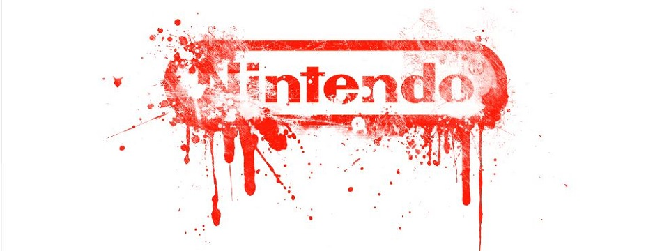 Nintendo logo bleeding affect