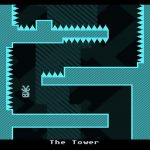 "Captain Viridian upside down through ""The Tower"" section of VVVVVV."